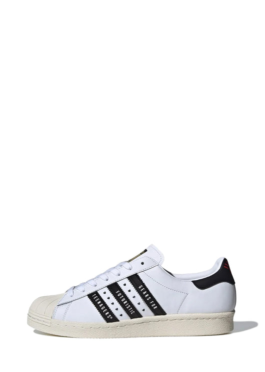ADIDAS X HUMAN MADE: SUPERSTAR 80S [WHITE/BLACK]