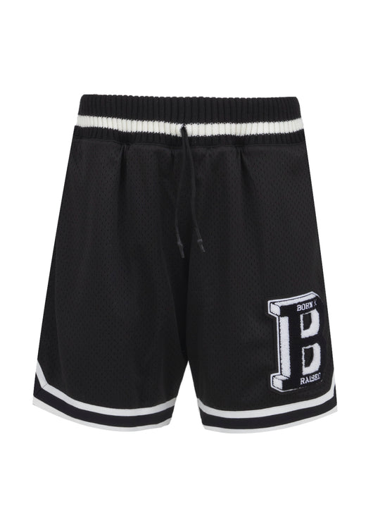 BORN X RAISED: LETTERMAN BALL SHORT [BLACK]