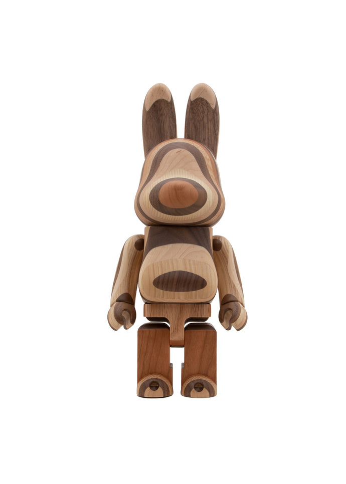 MEDICOM: BEARBRICK RABBRICK 400% KARIMOKU LAYER [BROWN]