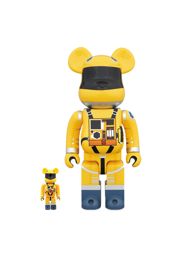 MEDICOM: BEARBRICK 100/400% SPACE SUIT SET [YELLOW]
