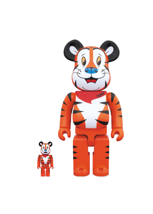 MEDICOM: BEARBRICK 100/400% TONY TIGER [ORANGE]