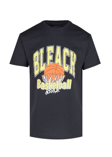BLEACHED GOODS: UNIVERSITY TEE [BLACK]