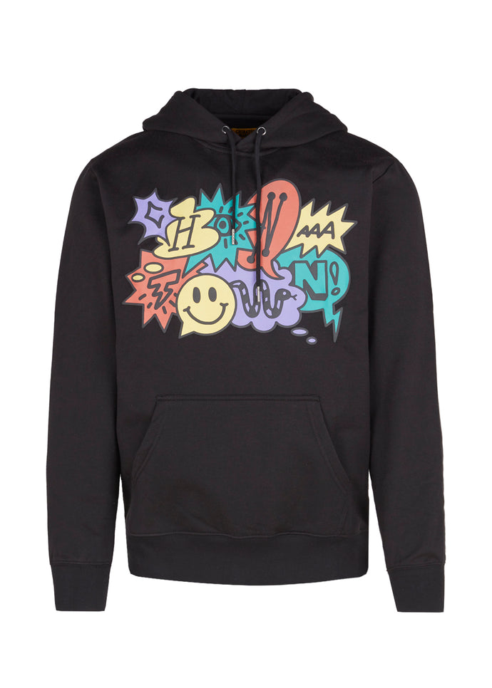 CHINATOWN MARKET: SPEECH BUBBLE HOODIE [BLACK]