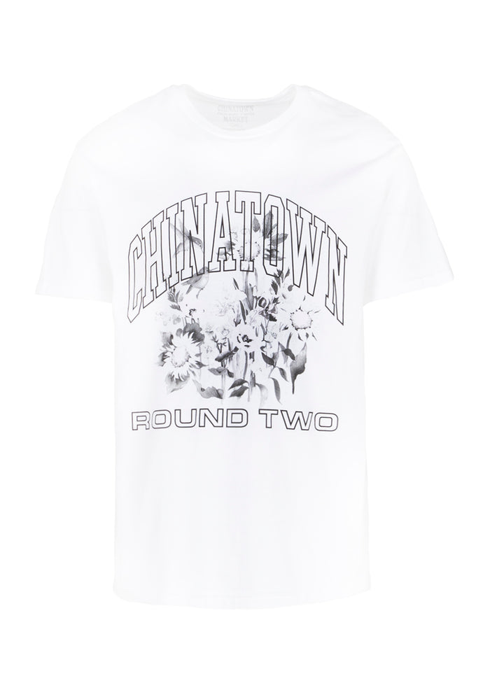 CHINATOWN MARKET X ROUND 2: UV FLOWER TEE [WHITE]