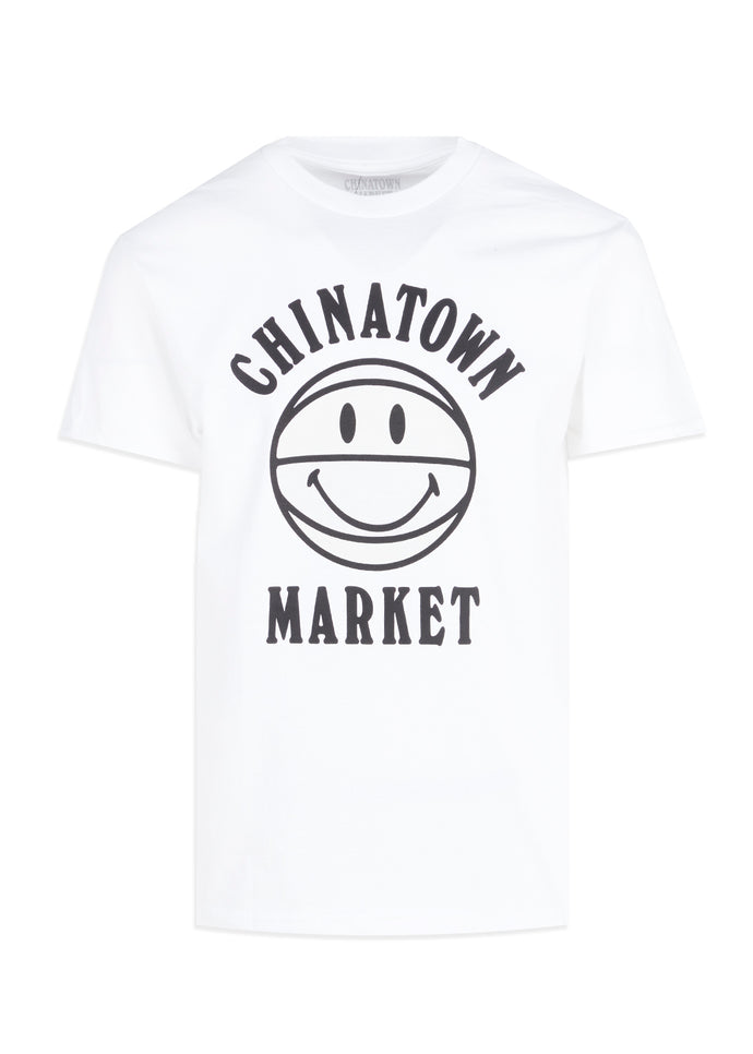 CHINATOWN MARKET: UV SMILEY BBALL TEE [WHITE]