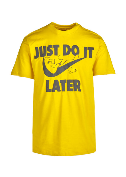 CHINATOWN MARKET: DO IT LATER SS TEE [YELLOW] - apb-store