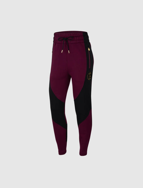 JORDAN: WOMEN'S JORDAN X PARIS SAINT GERMAIN SWEATPANTS [BURGUNDY]
