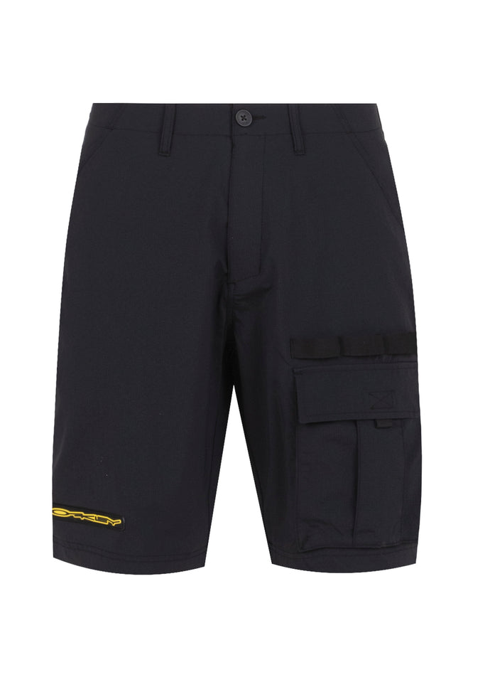OAKLEY: STRETCH LOGO CARGO SHORT [BLACK]