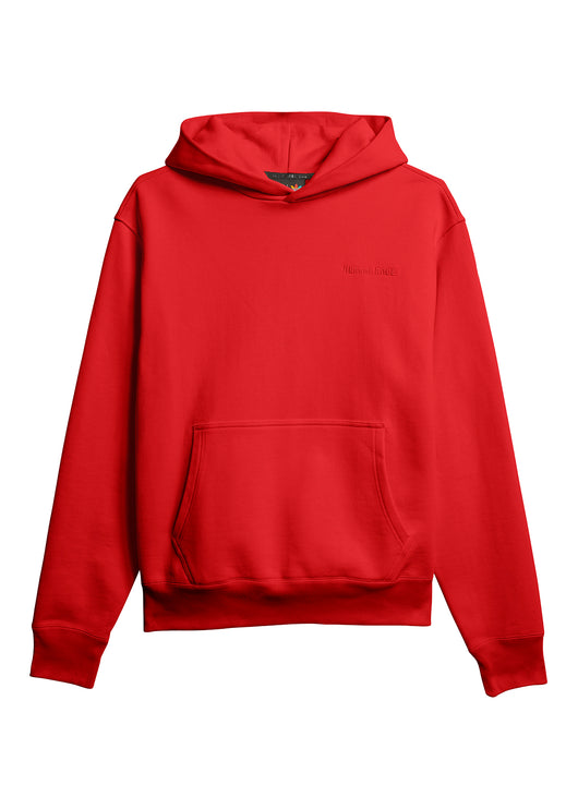 ADIDAS X PHARRELL WILLIAMS: BASICS HOODIE [RED]