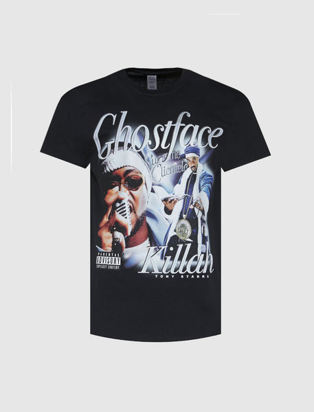 HOMAGE: GHOSTFACE KILLA TEE [BLACK]