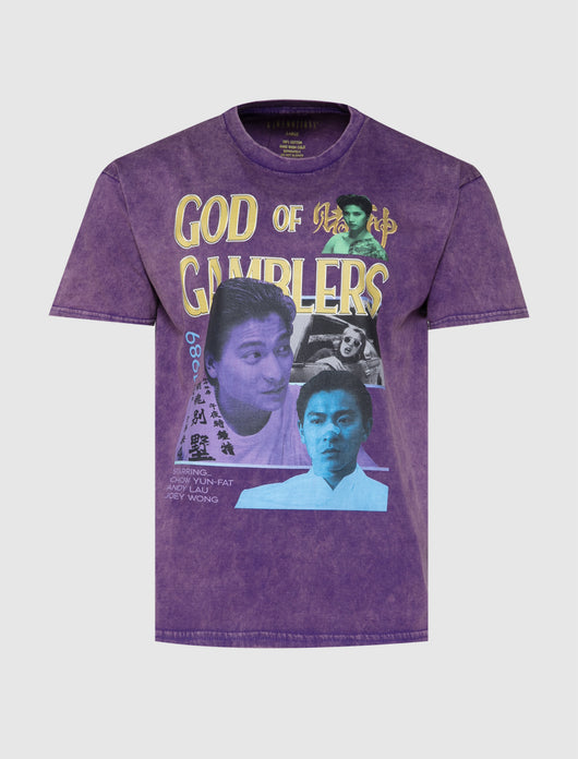 RAW EMOTIONS: GOD OF GAMBLERS TEE [PURPLE]