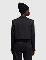 IVY PARK: 2.2 CROPPED SUIT JACKET [BLACK]