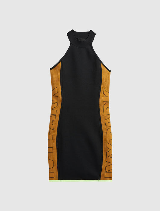 IVY PARK: 2.2 LOGO DRESS [BLACK]
