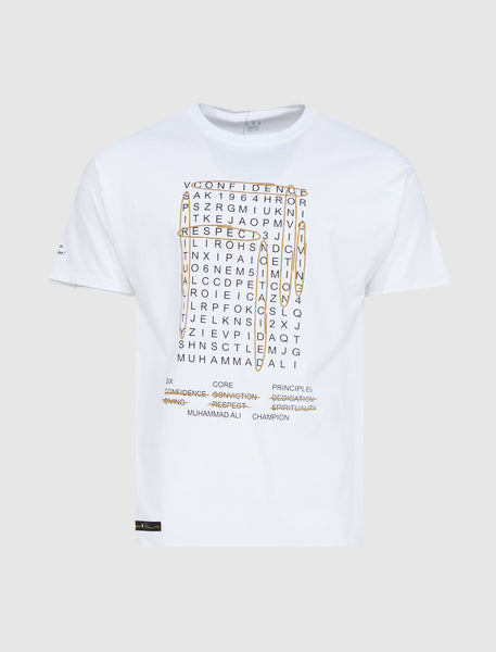 CHAMPION X ALI: WORLD SEARCH TEE [WHITE]