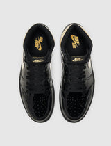 "JORDAN: AIR JORDAN 1 HIGH ""BLACK & GOLD"" [BLACK]"