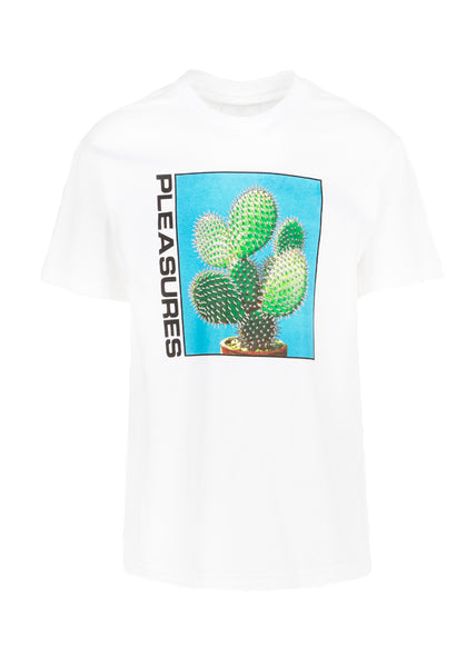 PLEASURES: SPIKE SS TEE [WHITE]