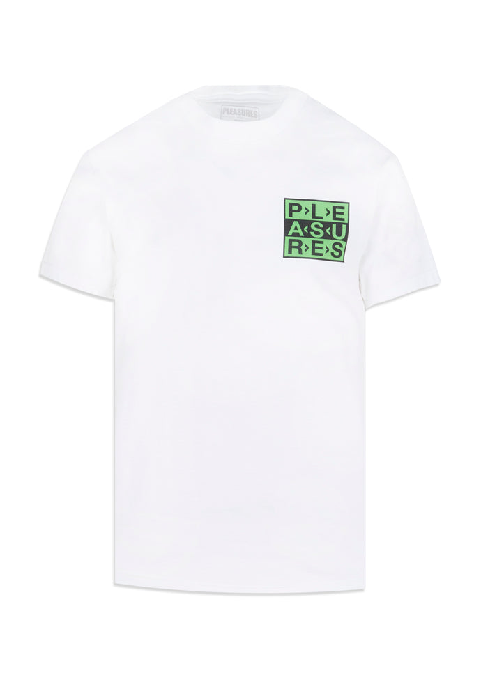 PLEASURES: FRAGILE SS TEE [WHITE]
