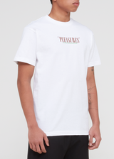 PLEASURES: SATISFACTION SS TEE [WHITE]