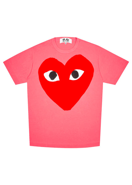 CDG PLAY: SS TEE [PINK]