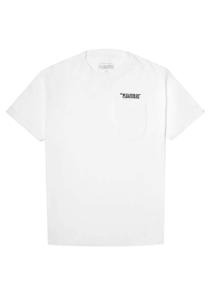 PLEASURES: BALANCE EMBROIDERED SS TEE [WHITE]