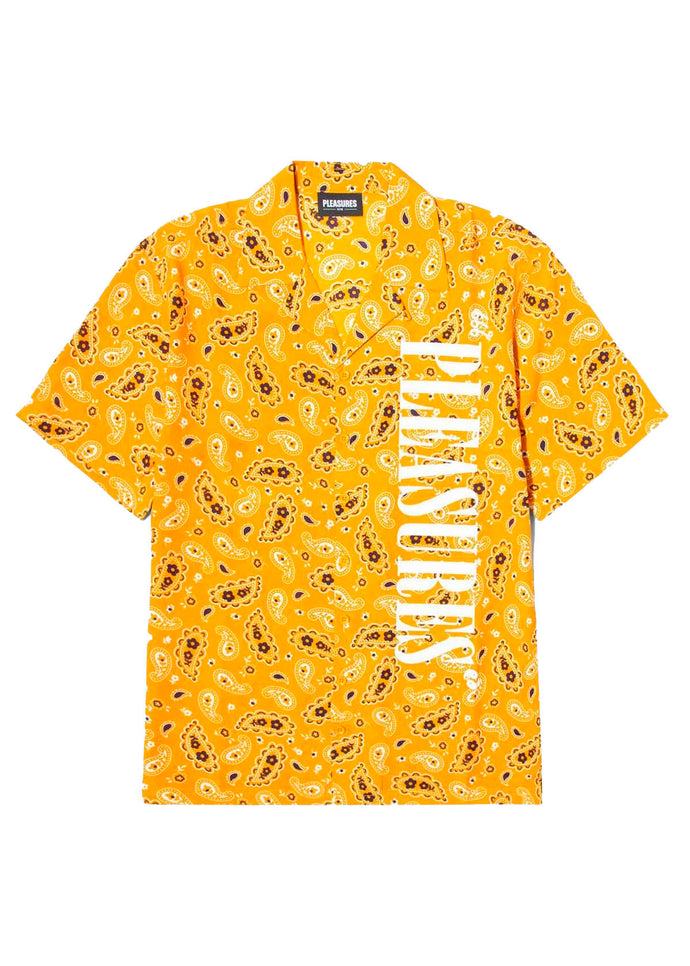 PLEASURES: ANDY RAYON BUTTON DOWN [YELLOW]
