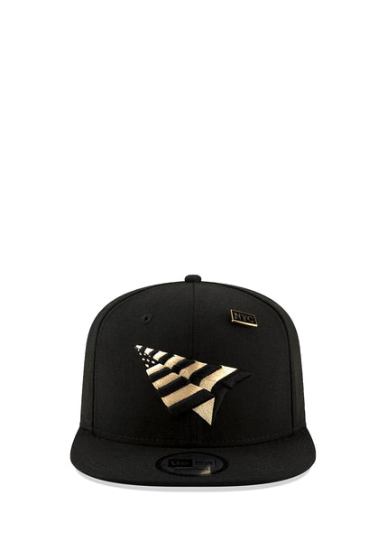 PAPER PLANES: CROWN SNAPBACK HAT [BLACK]