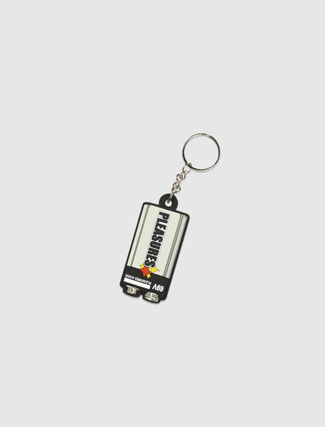 PLEASURES: PVC KEYCHAIN [GREY]