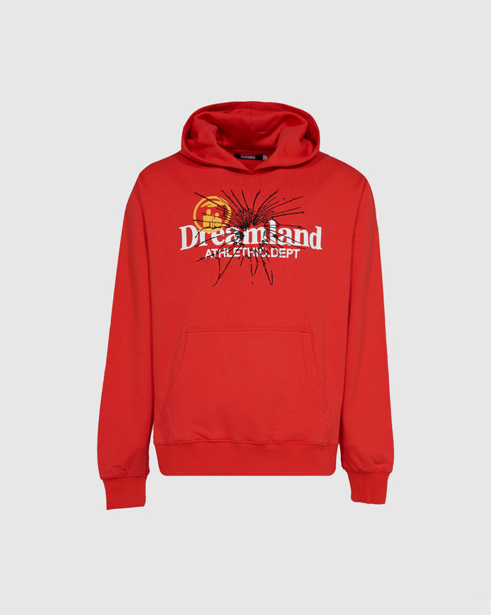 RENOWNED: DREAMLAND ATHLETIC DEPT HOODIE [RED]