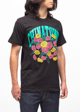 CHINATOWN MARKET: BOUQUET SS TEE [BLACK] - apb-store