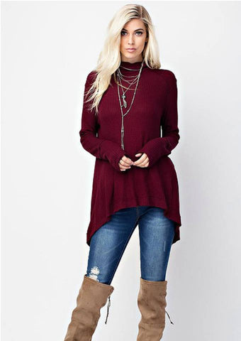 Burgundy Fashion Sweater