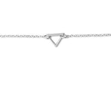Sterling Silver Open Triangle Anklet