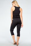 Razor Back Drawstring Jumpsuit By Bobi Los Angeles