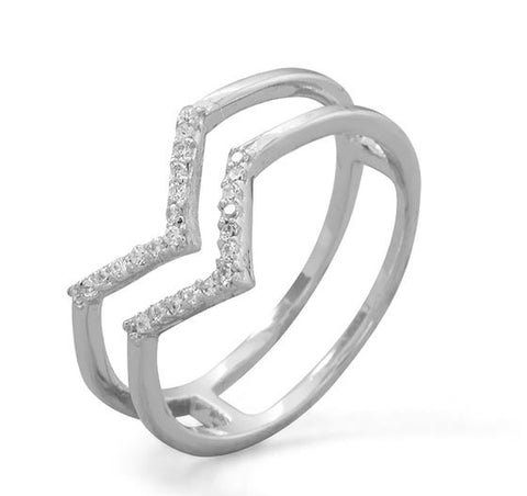 "Double ""V"" Ring"