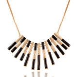 Black & Gold Pendent Necklace