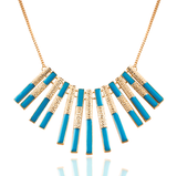 Blue & Gold Pendant Necklace