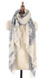 Blue & White Porcelain Fashion Scarf