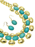 Turquoise Oval Fashion Set