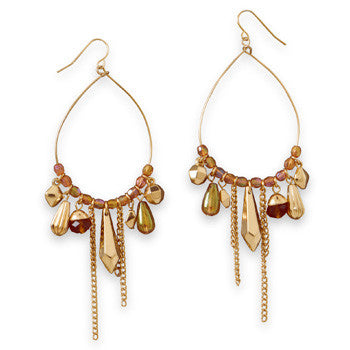 Gold Pear Drop Earrings