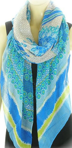 Ladies Turquoise & Blue  Fashion Scarf
