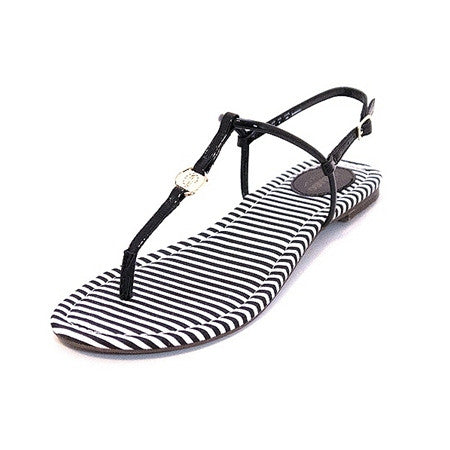 Josslyn Black Thong Sandal by Sebago