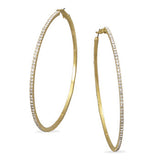 3'' Gold Crystal Hoop Earrings