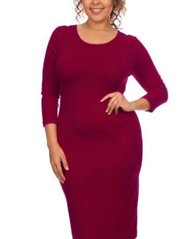Burgundy Bodycon Dress