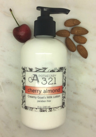 Cherry Almond Goats Milk Lotion