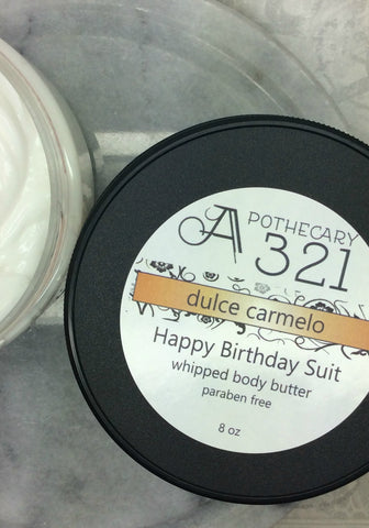 Clearance Dulce Carmelo Happy Birthday Suit Whipped Body Butter