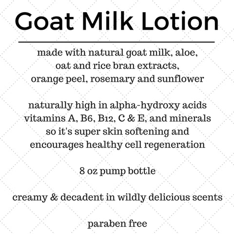 Black Coffee In Bed Goats Milk Lotion