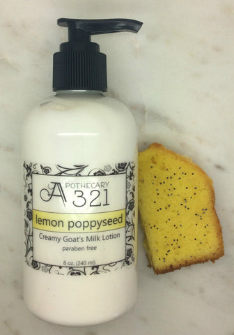 Lemon Poppyseed Pound Cake Goats Milk Lotion