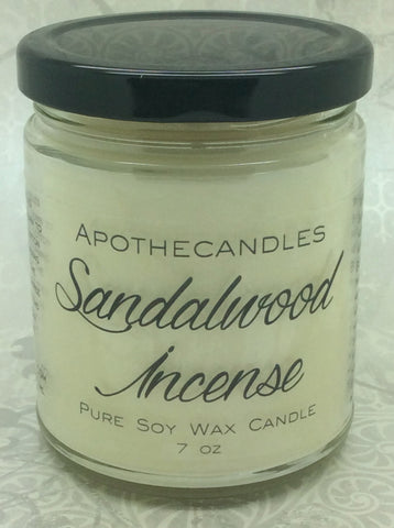 Sandalwood Incense Pure Soy Wax Candle
