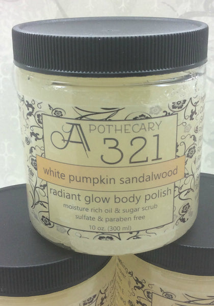 White Pumpkin Sandalwood Radiant Glow Body Polish