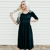 Sweetheart Lace Dress | Black