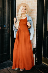 The Dusti Maxi Dress | Rust